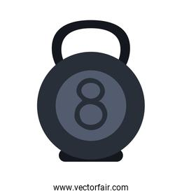 kettlebell weight lifting icon image