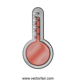 analog thermometer icon image