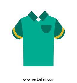 polo shirt with stripe on sleeves icon image