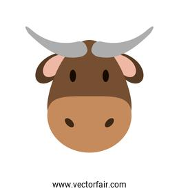 cow or bull face icon image