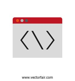 tab or website with code icon image