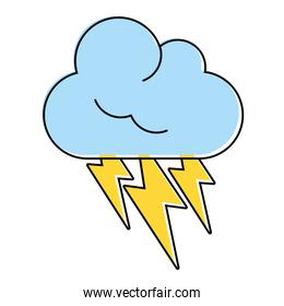 thunderbolts and cloud weather icon image