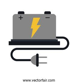 battery with cord and plug icon image