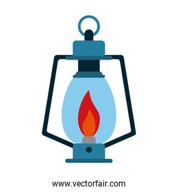 oil lamp camping outdoors icon image