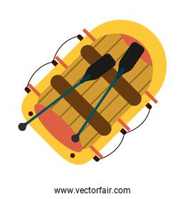 raft row boat icon image
