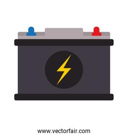 battery with lightning bolt icon image