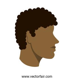 man avatar head sideview icon image
