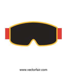 mask or goggles winter sports icon image