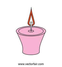Candle flame isolated