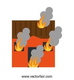 house on fire icon image