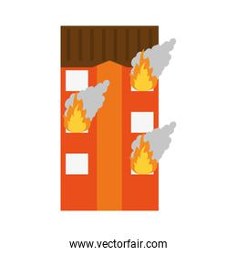 building on fire icon image