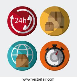 Express delivery icon design , vector illustration