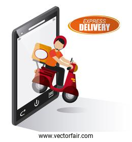 delivery motorcycle design , vector illustration