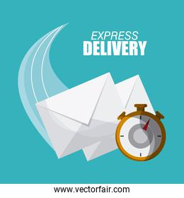 delivery and chronometer design , vector illustration