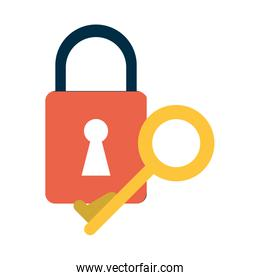 safety lock with key icon image