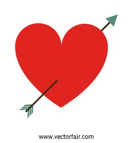 heart cartoon with arrow valentines day related icon image