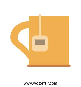 cup with tea bag icon image