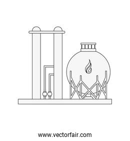 natural gas refinery icon image