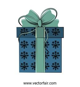 gift box with ribbon bow icon image