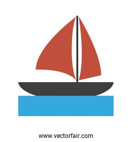 sailboat on water icon