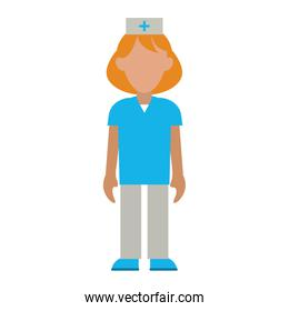 nurse avatar healthcare related icon image