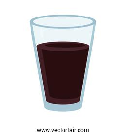 Cola soda drink in glass cup