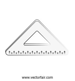 ruler triangle icon image