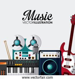 Music instrument design , vector illustration
