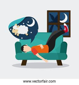 Rest and sleep design , vector illustration
