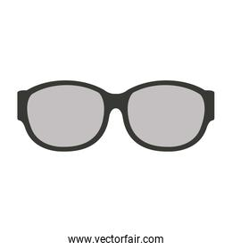Lens glasses isolated