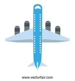 Jet airplane isolated
