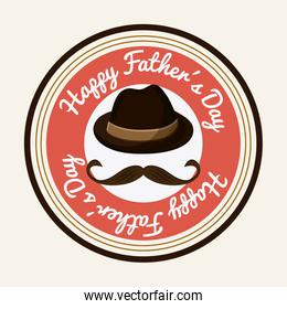 Icon of Fathers day design, vector illustration