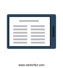 Reading Ebook on tablet