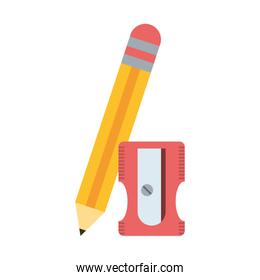 Wooden pencil with sharpener