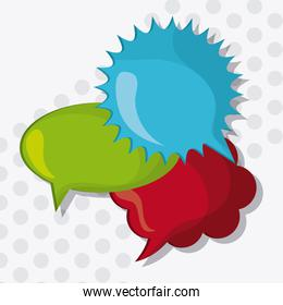 colors Message bubble speech, editable vector