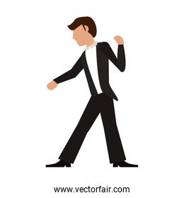 Fiance with suit cartoon