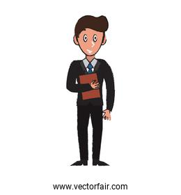 Businessman avatar cartoon