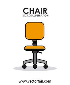 office related chairs, vector illustration, vector illustration
