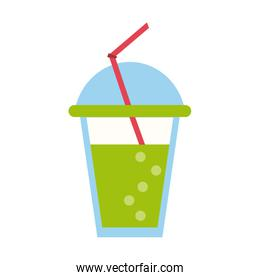 Soda drink cup isolated icon
