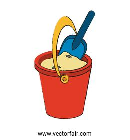 Sand bucket and shovel toy