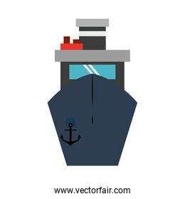 Ship frontview symbol