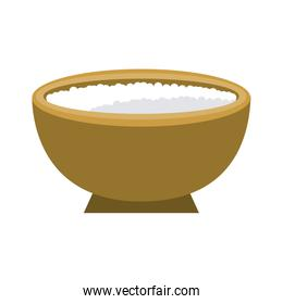 Spa sea salt in bowl