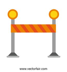 Construction barrier isolated light