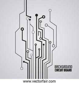 Circuit board design. technology and electronic concept
