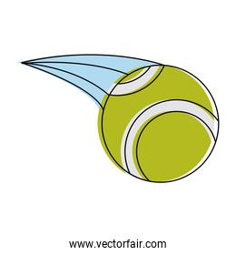 Tennis ball isolated