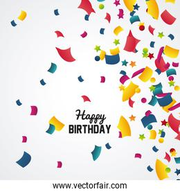 Happy birthday design. confetti icon. celebration concept