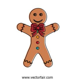 Gingerbread cookie isolated