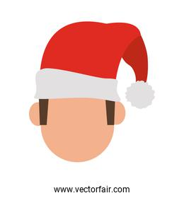 Man with christmas hat