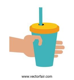 Hand with soda cup