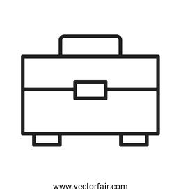 Business briefcase isolated